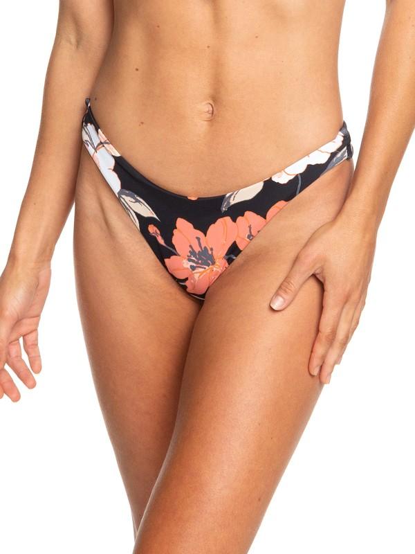 0 Beach Classics Reversible High Leg Bikini Bottoms Black ERJX403688 Roxy