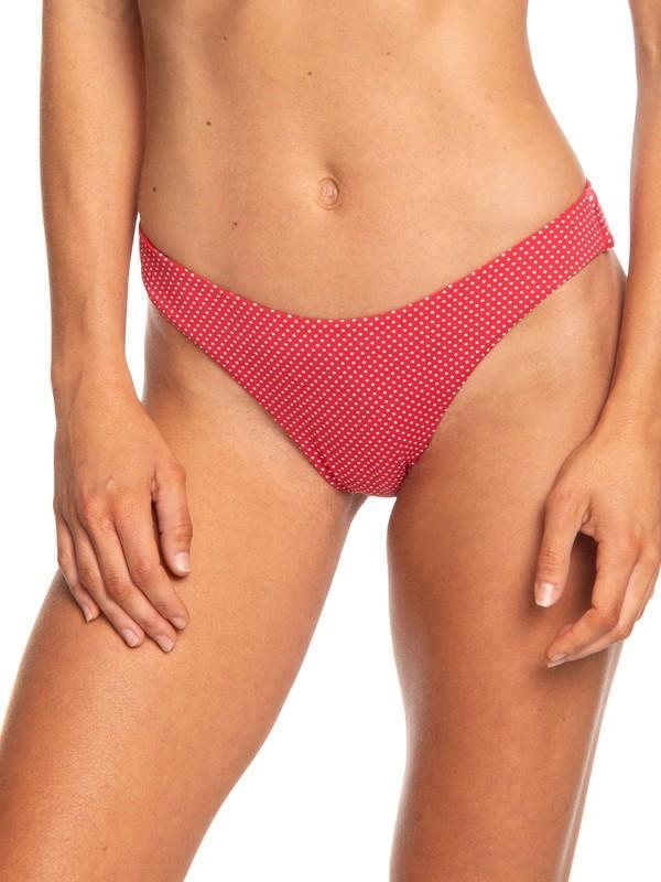 0 Beach Classics Reversible High Leg Bikini Bottoms Red ERJX403688 Roxy