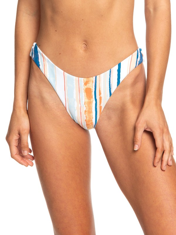 0 Beach Classics Reversible High Leg Bikini Bottoms White ERJX403688 Roxy