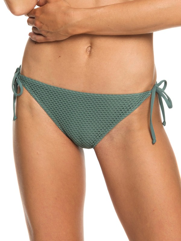 0 Garden Summers - Braguita de Bikini con Lazadas Laterales Ajustables para Mujer Verde ERJX403689 Roxy