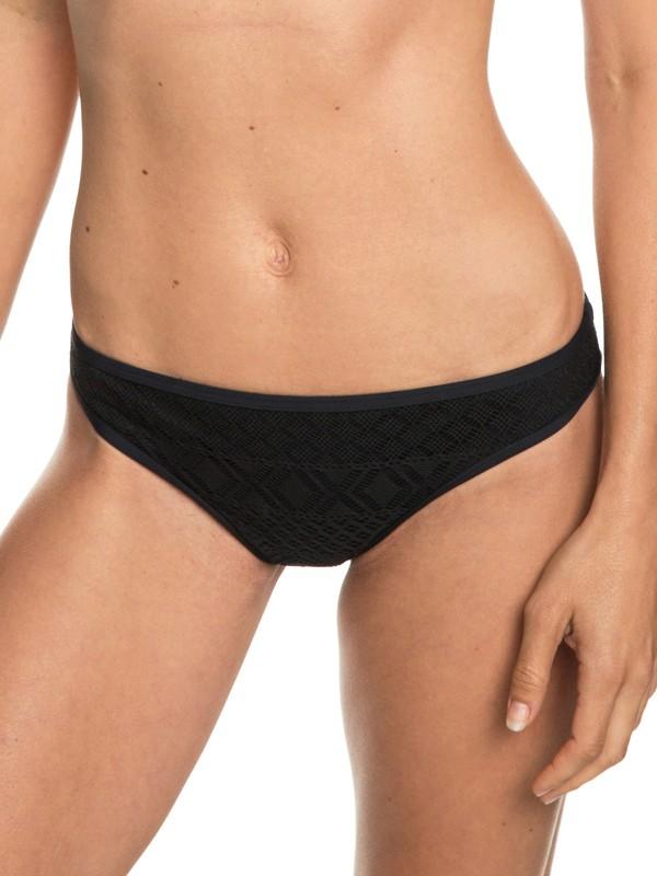 0 Garden Summers - Mutandina Bikini Completa da Donna Black ERJX403690 Roxy
