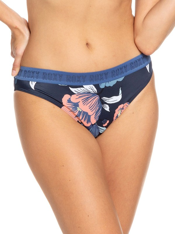 0 Calzones de Bikini de cobertura completa ROXY Fitness Azul ERJX403693 Roxy