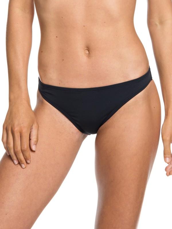 0 Beach Classics Moderate Bikini Bottoms Black ERJX403712 Roxy