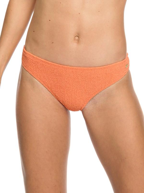 0 Sun Memory Moderate Bikini Bottoms Orange ERJX403747 Roxy