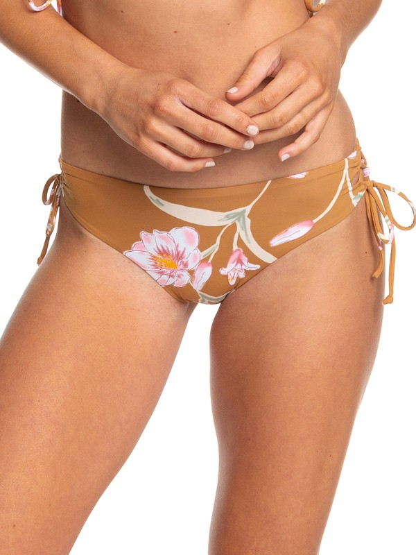 0 Printed Beach Classics Full Bikini Bottoms Brown ERJX403779 Roxy