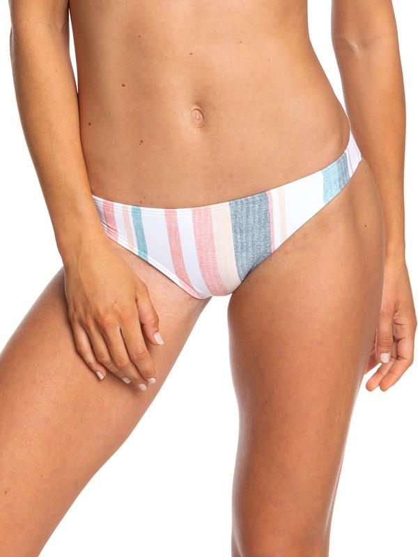 0 Printed Beach Classics Moderate Bikini Bottoms White ERJX403782 Roxy