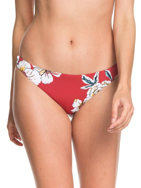 0 Printed Beach Classics Mini Bikini Bottoms Red ERJX403860 Roxy