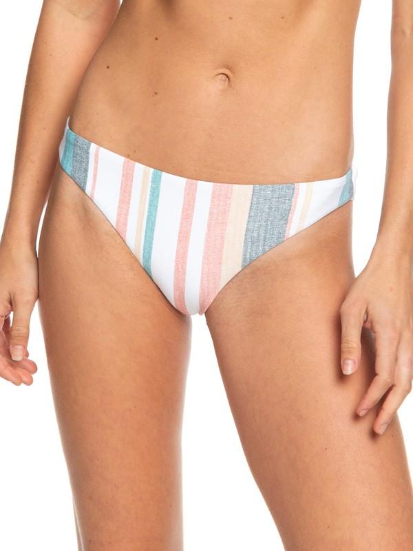 0 Printed Beach Classics Mini Bikini Bottoms White ERJX403860 Roxy