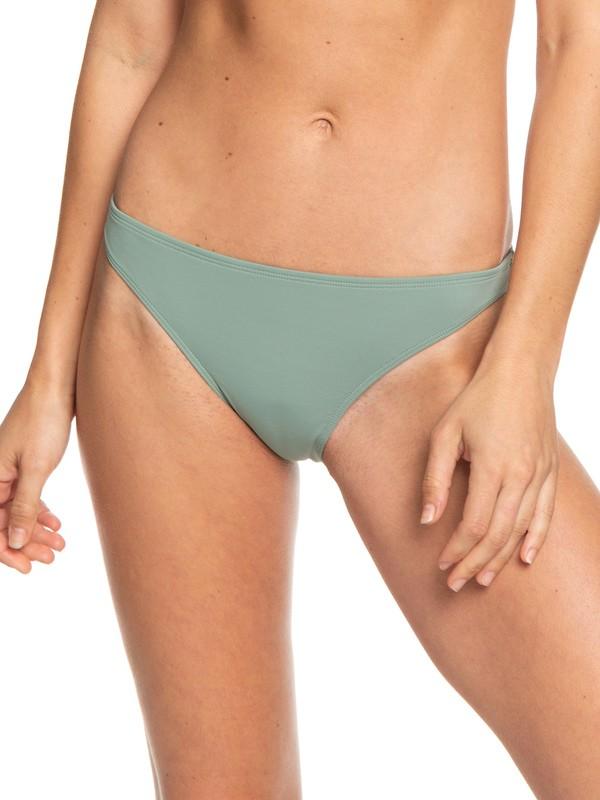 0 Beach Classics Moderate Bikini Bottoms Green ERJX403864 Roxy