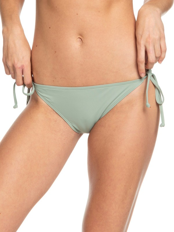 0 Beach Classics Tie-Side Bikini Bottoms Green ERJX403866 Roxy