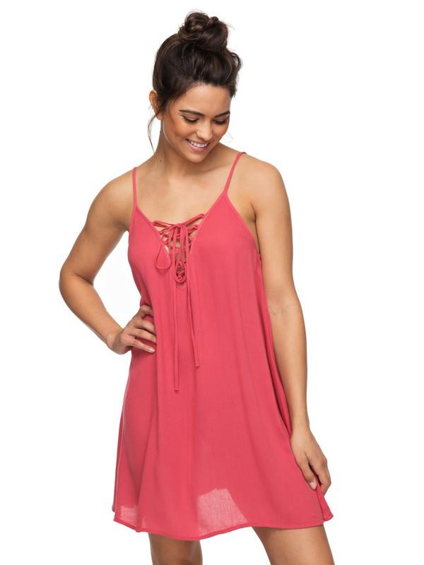 0 Softly Love Strappy Dress Pink ERJX603122 Roxy