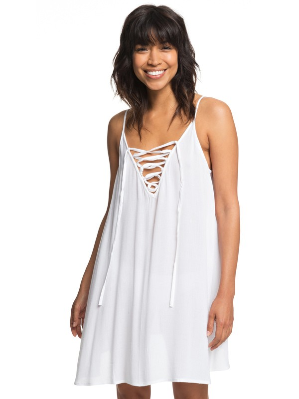 0 Softly Love Strappy Dress White ERJX603122 Roxy