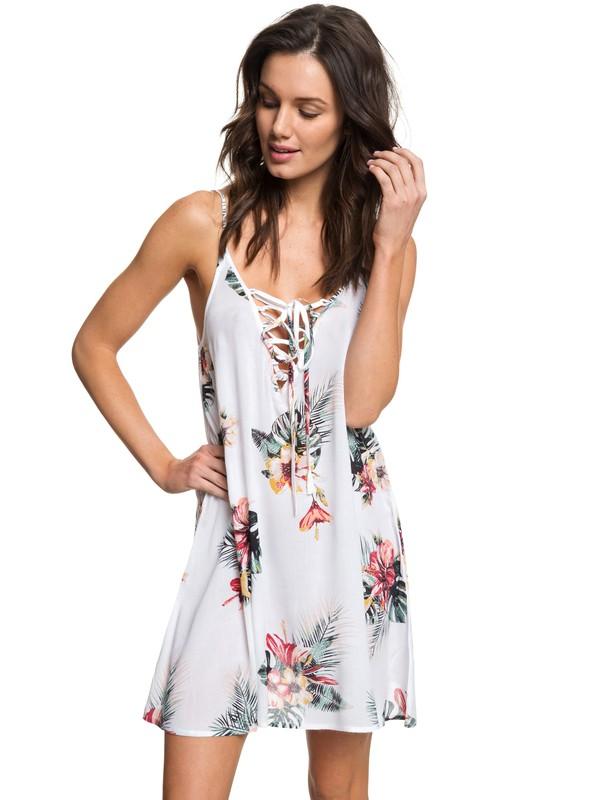 0 Softly Love Strappy Dress White ERJX603133 Roxy