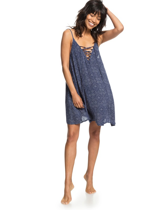 0 Softly Love Strappy Beach Dress Blue ERJX603138 Roxy