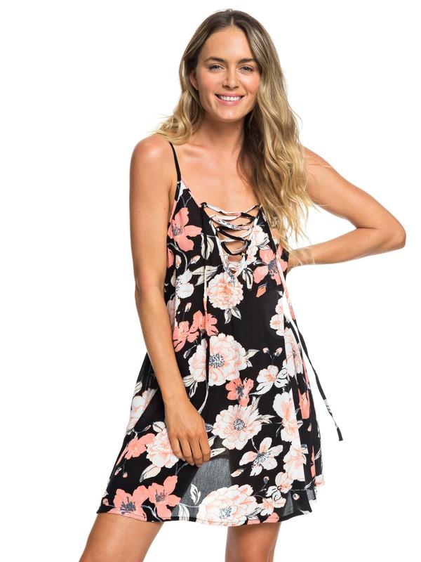 0 Vestido de Playa con Tirantes Softly Love Negro ERJX603138 Roxy