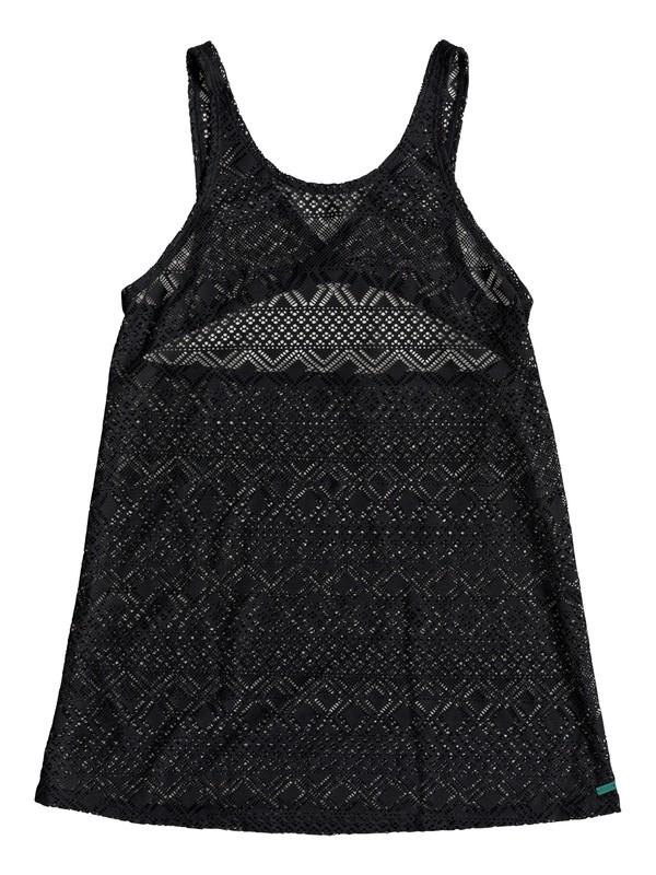 0 Garden Summers Crochet Beach Dress Black ERJX603140 Roxy