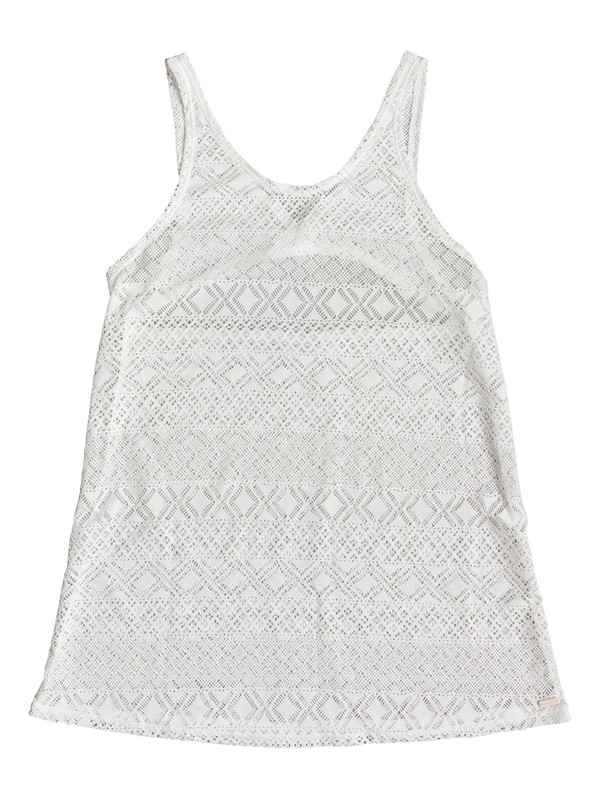 0 Garden Summers Crochet Beach Dress White ERJX603140 Roxy