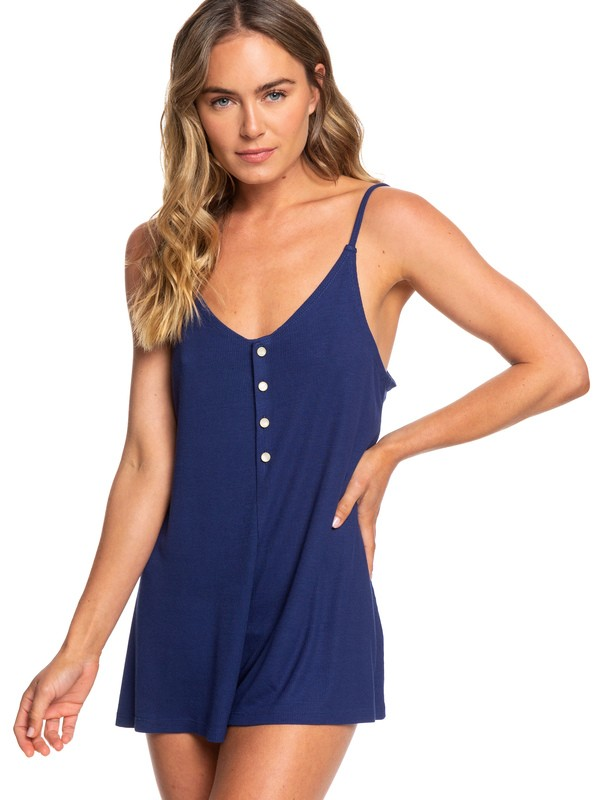 0 Chill Love Strappy Romper Blue ERJX603142 Roxy