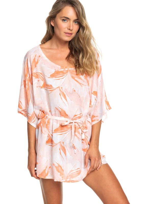 0 Loia Bay Short Sleeve Dress White ERJX603151 Roxy