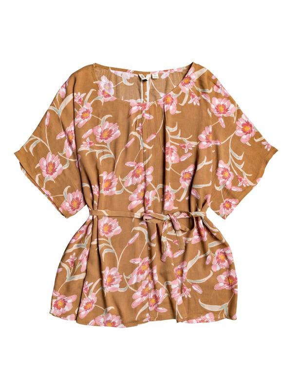 0 Loia Bay Loose Beach Dress Brown ERJX603171 Roxy