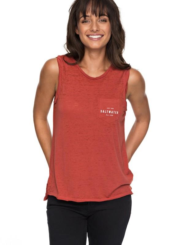 0 Time For Another Day B - Sleeveless T-Shirt for Women Orange ERJZT04157 Roxy