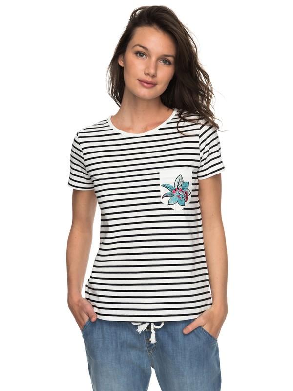 0 Bahamas Cottage A - T Shirt col rond pour Femme Noir ERJZT04180 Roxy