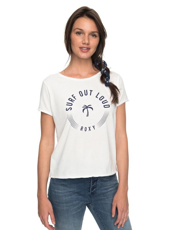 0 POP Surf A - T Shirt col rond pour Femme Blanc ERJZT04198 Roxy