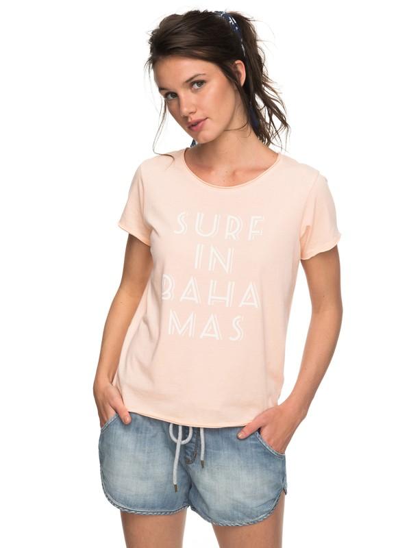 0 POP Surf B - T Shirt col rond pour Femme Rose ERJZT04199 Roxy