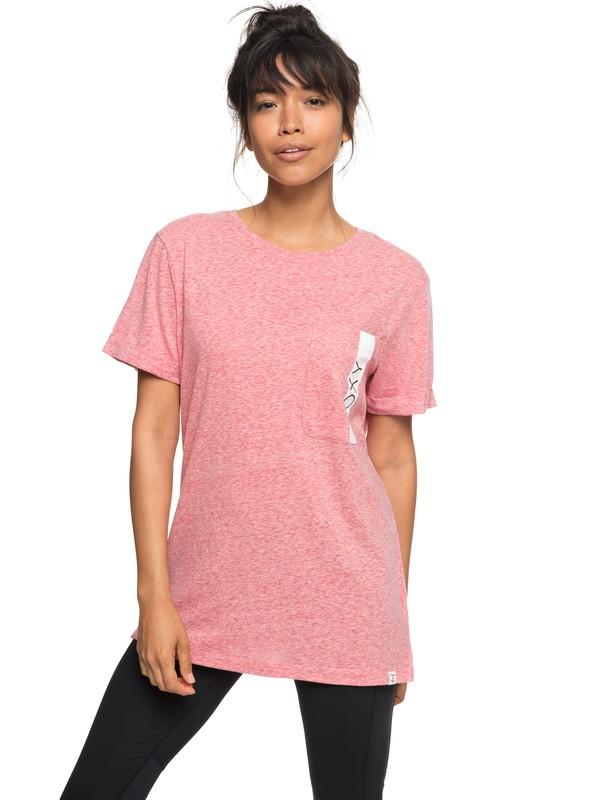 0 Miss Military B - Camiseta con bolsillo para Mujer Rosa ERJZT04326 Roxy