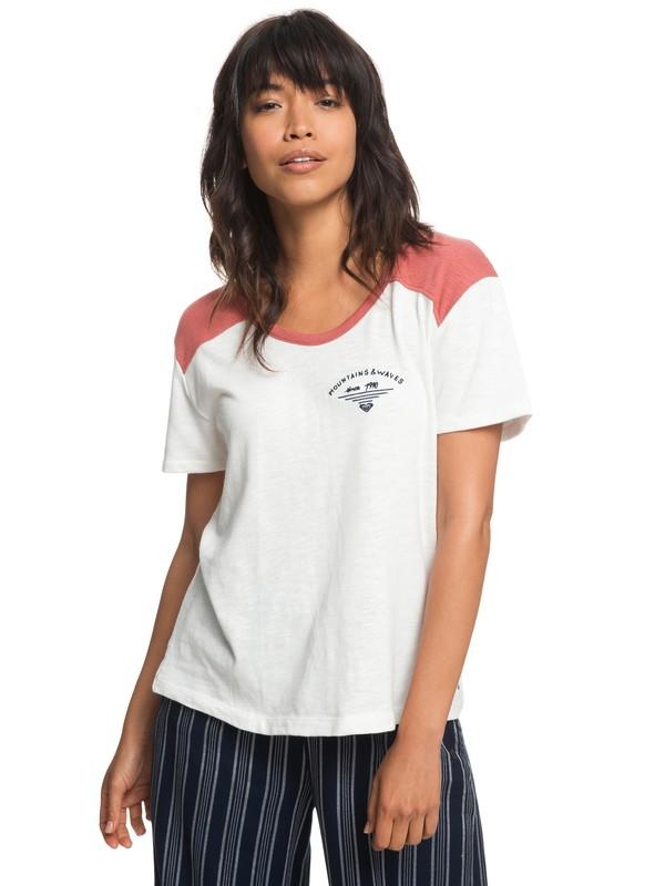 0 My Favorite Thing B - T-shirt col rond pour Femme Blanc ERJZT04336 Roxy