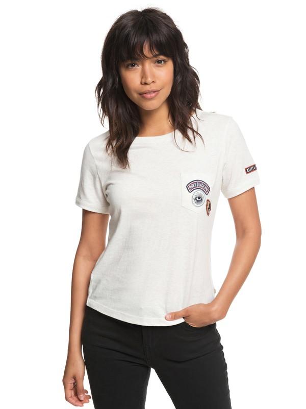 0 Frosty Garden - T-shirt met Borstzak voor Dames White ERJZT04360 Roxy