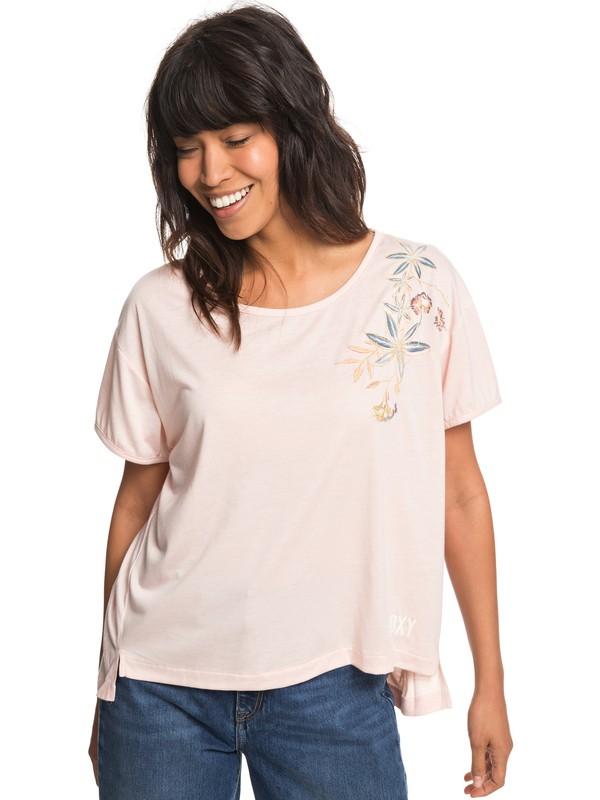 0 Cruz Life B - T-shirt col rond pour Femme Rose ERJZT04382 Roxy