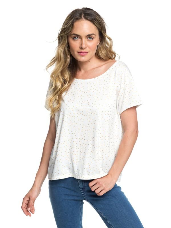 0 My Own Sun A - T-shirt col rond pour Femme Blanc ERJZT04407 Roxy