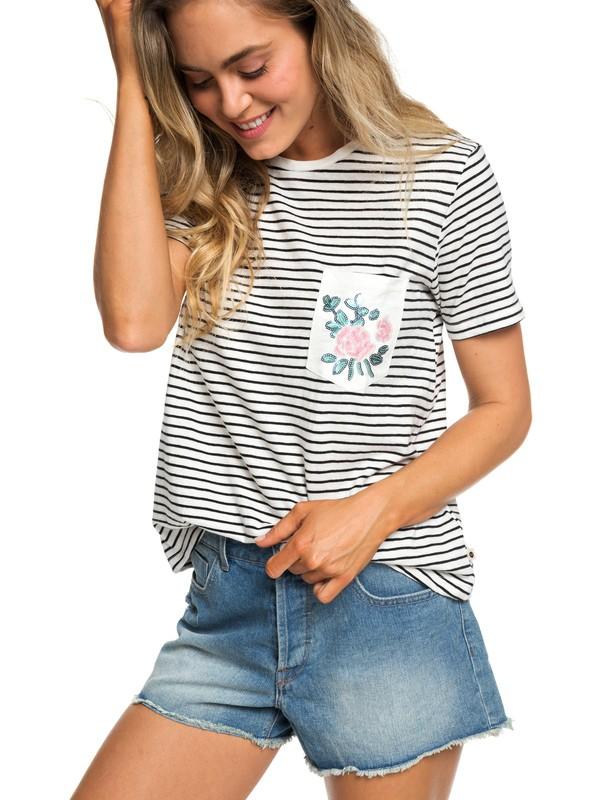 0 Be My Lover - T-shirt avec poche pour Femme Noir ERJZT04498 Roxy