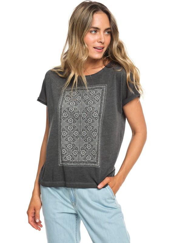 0 Summertime Happiness - T-shirt pour Femme Noir ERJZT04502 Roxy