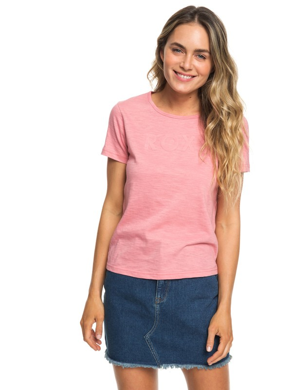 0 Red Sunset A - Camiseta para Mujer Rosa ERJZT04512 Roxy