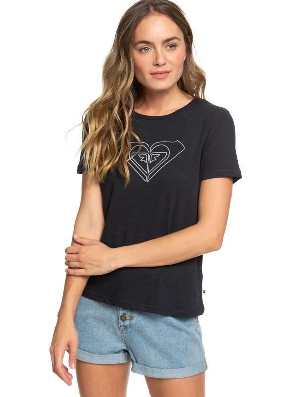 0 Red Sunset B - T-shirt pour Femme Noir ERJZT04513 Roxy