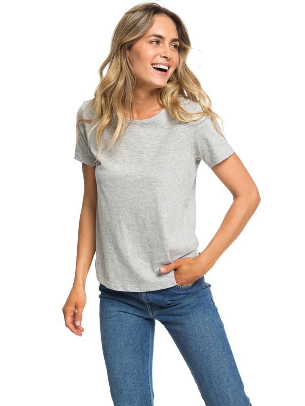 0 Red Sunset B - T-shirt pour Femme Gris ERJZT04513 Roxy