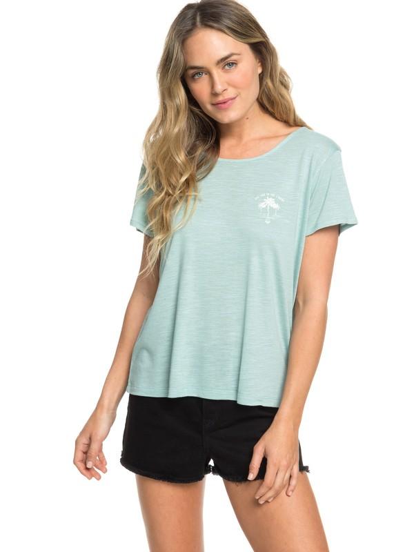 0 Stay Chill C - T-shirt pour Femme Bleu ERJZT04521 Roxy