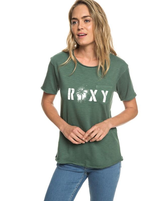 0 Star Solar A - T-shirt pour Femme Vert ERJZT04526 Roxy