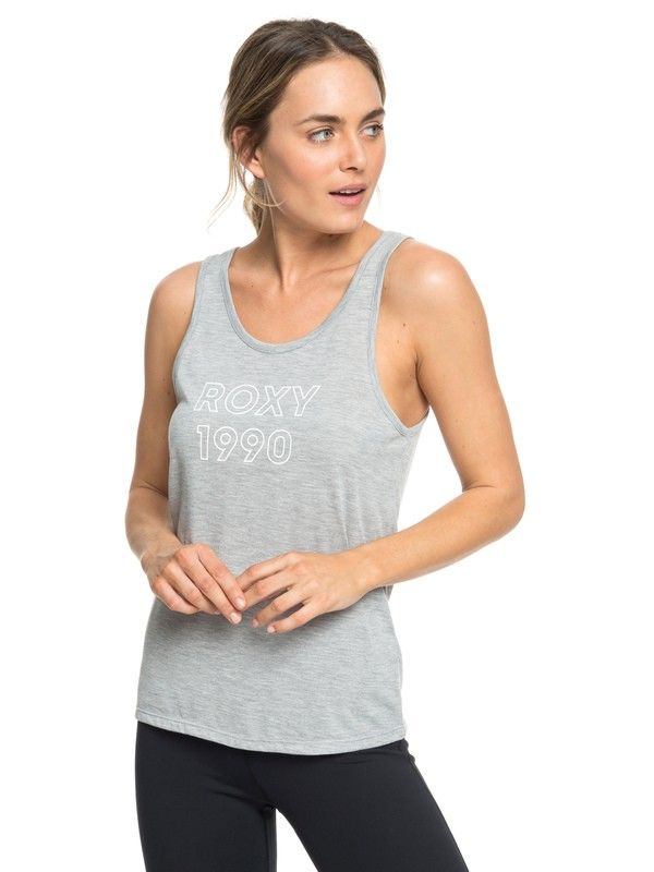 0 Shades Of Cool A - Top sin Mangas para Yoga para Mujer Gris ERJZT04535 Roxy