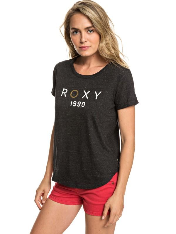0 Hello And Goodbye A - Camiseta para Mujer Negro ERJZT04558 Roxy
