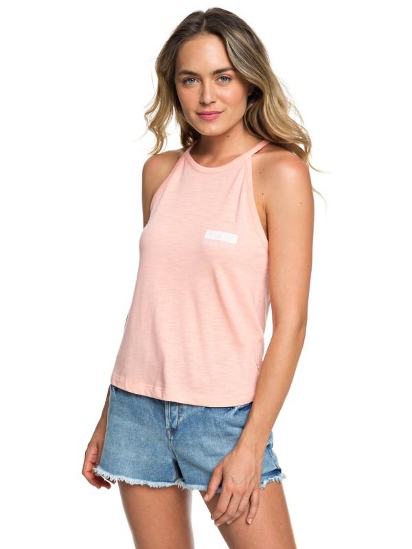0 Summer Daze C High-Neck Strappy Top Pink ERJZT04570 Roxy