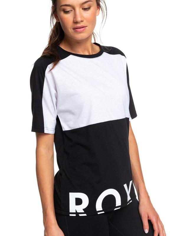 0 In The Moon Mood - T-shirt de sport pour Femme Noir ERJZT04657 Roxy