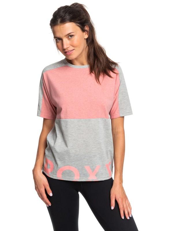 0 In The Moon Mood - T-shirt de sport pour Femme Gris ERJZT04657 Roxy
