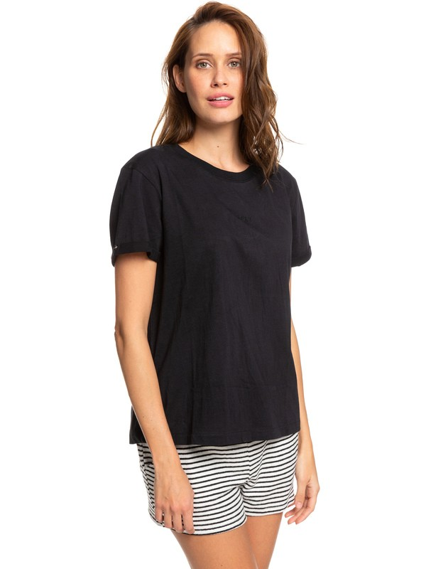 0 Surfing In Rhythm B Tee Black ERJZT04693 Roxy