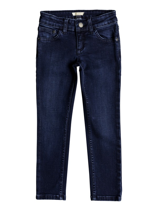 0 Girl's 2-6 Adventure Begin Slim Fit Jeans Blue ERLDP03022 Roxy
