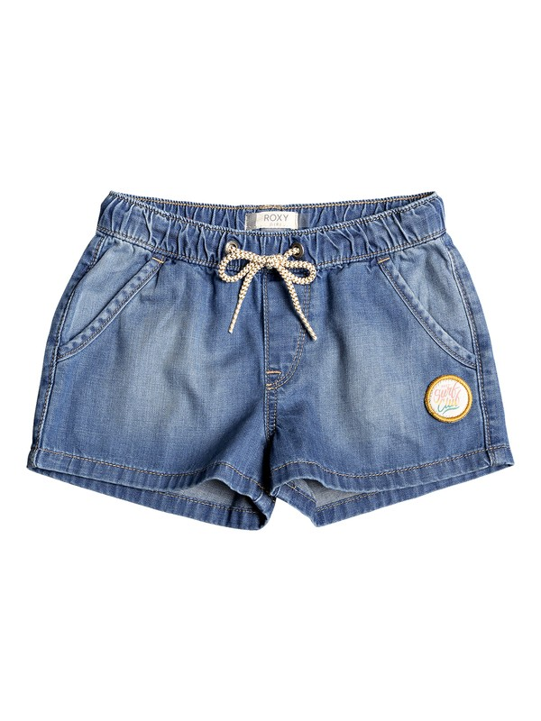0 Timeless - Denim Shorts for Girls 2-7 Blue ERLDS03034 Roxy