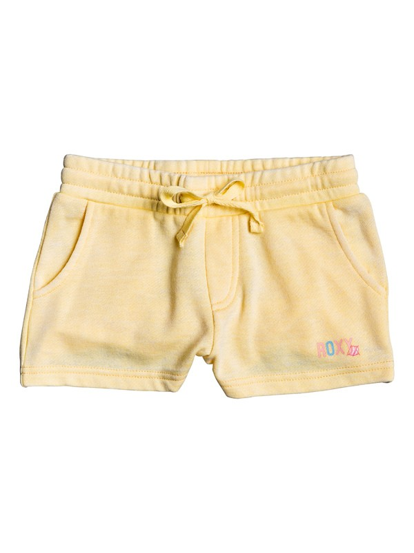 0 Girl's 2-6 Cosy Rain A Sweat Shorts Yellow ERLFB03067 Roxy