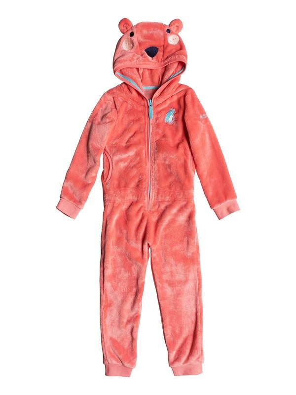 0 Girl's 2-6 Cozy Up Faux Fur Fleece Onesie Pink ERLFT03141 Roxy